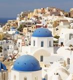 Oia na ilha de Santorini imagem de stock royalty free