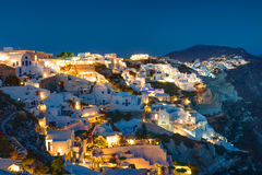 Oia at night Stock Images