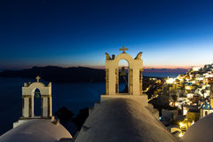 Oia at night Stock Image
