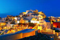 Oia at night, Santorini, Greece Royalty Free Stock Photo
