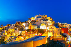 Oia at night, Santorini, Greece Royalty Free Stock Photography