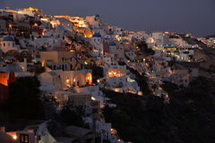 Oia at night Royalty Free Stock Photos