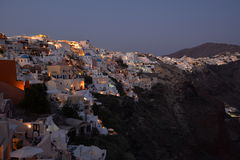 Oia at night Royalty Free Stock Photography