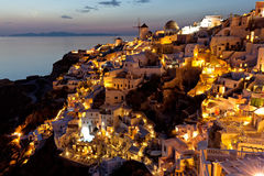 Oia night view Stock Photography