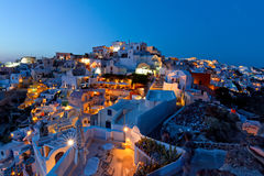 Oia night view Stock Images