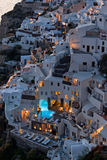 Oia night view Royalty Free Stock Image
