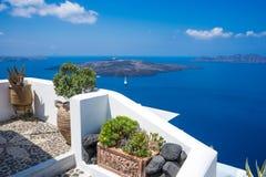Oia no console de Santorini fotos de stock royalty free