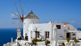Oia op Eiland Santorini Royalty-vrije Stock Afbeelding