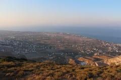 Oia op Eiland Santorini Stock Afbeeldingen