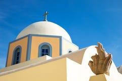 Oia op Eiland Santorini royalty-vrije stock afbeeldingen