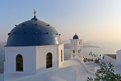 Oia op Eiland Santorini Stock Foto's