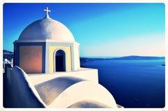 Oia op Eiland Santorini Stock Foto