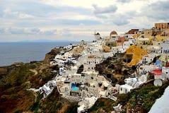 Oia over the cliff Stock Photos