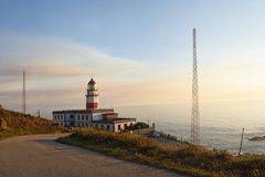 Oia Oya lighthouse Pontevedra province; Galicia; Spa Stock Images