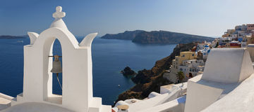 Oia Panorama 02 Royalty Free Stock Images