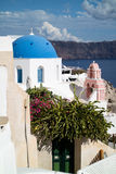 Oia panorama & x28; Santorini, Greece& - x29; Obrazy Royalty Free