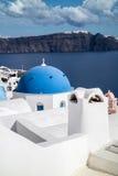 Oia panorama & x28; Santorini, Greece& - x29; Fotografia Stock