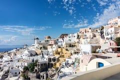 Oia panorama & x28; Santorini, Greece& - x29; Obraz Stock