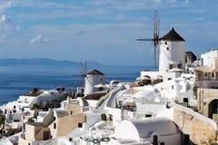 Oia panorama & x28; Santorini, Greece& - x29; Zdjęcie Stock