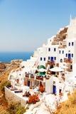 Oia pejzaż miejski, Santorini Fotografia Stock