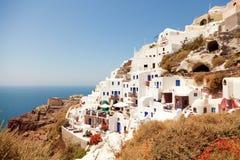 Oia pejzaż miejski, Santorini Zdjęcie Stock