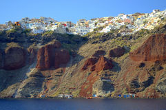 Oia pittoresque, Santorini, Grèce Photos stock
