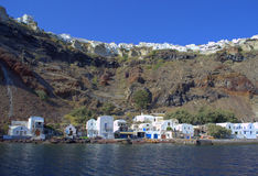 Oia port,Santorini,Greece Royalty Free Stock Photo