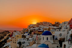 Oia Santorini希腊 免版税库存照片