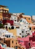 Oia, Santorini à la lumière du jour Photographie stock libre de droits