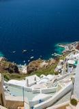 Oia, Santorini à la lumière du jour Images libres de droits