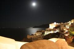 Oia Santorini νύχτα - Ελλάδα Στοκ Εικόνες