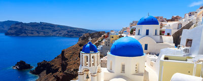 Oia Santorini Греция Европа стоковое изображение rf