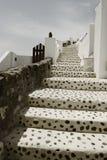 Oia, Santorini на солнечный день Стоковое Изображение RF