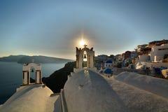 Oia, Santorini, острова Кикладов Греция Стоковое Фото