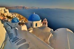 Oia, Santorini, острова Кикладов Греция Стоковая Фотография