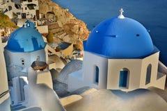 Oia, Santorini, острова Кикладов Греция Стоковое Изображение RF