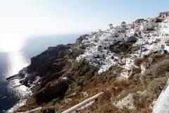 Oia Santorini stockfotos