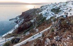 Oia Santorini Images libres de droits
