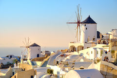 Oia Santorini - 31 August, 2015: Scenic view of Oia village Stock Images