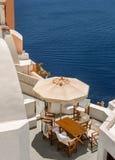Oia, Santorini bij daglicht Royalty-vrije Stock Foto