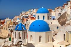 Oia, Santorini-cityscape royalty-vrije stock afbeelding