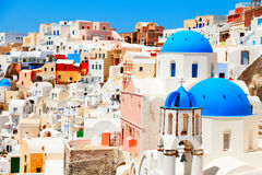 Oia, Santorini. Cityscape in Oia, Santorini at daylight Stock Photography