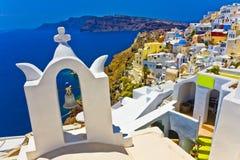 Oia at Santorini. Colorful village of Oia at Santorini island in Greece Stock Images