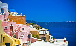Oia at Santorini Royalty Free Stock Photos