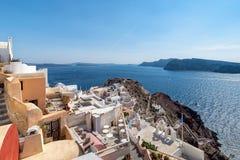 Oia - Santorini Cyclades Island - Aegean sea - Greece. View of Oia - Santorini Cyclades Island - Aegean sea - Greece stock photography