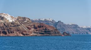 Oia - Santorini Cyclades Island - Aegean sea - Greece. View of Oia - Santorini Cyclades Island - Aegean sea - Greece royalty free stock photo