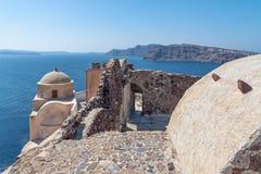 Oia - Santorini Cyclades Island - Aegean sea - Greece. View of Oia - Santorini Cyclades Island - Aegean sea - Greece stock photo