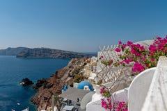 Oia - Santorini Cyclades Island - Aegean sea - Greece. View of Oia - Santorini Cyclades Island - Aegean sea - Greece stock images