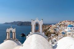 Oia - Santorini Cyclades Island - Aegean sea - Greece. View of Oia - Santorini Cyclades Island - Aegean sea - Greece stock photos