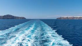 Oia - Santorini Cyclades Island - Aegean sea - Greece. View of Oia - Santorini Cyclades Island - Aegean sea - Greece stock image